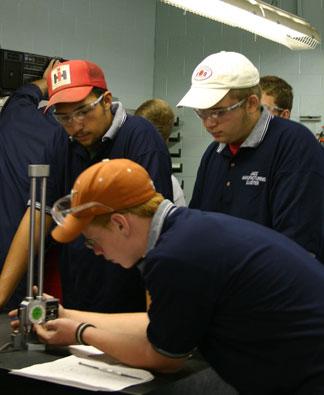 Machining Students