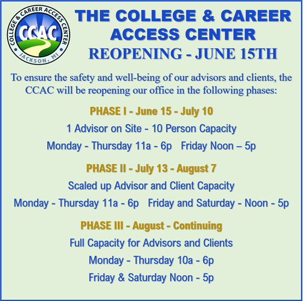 Re-Opening Phases