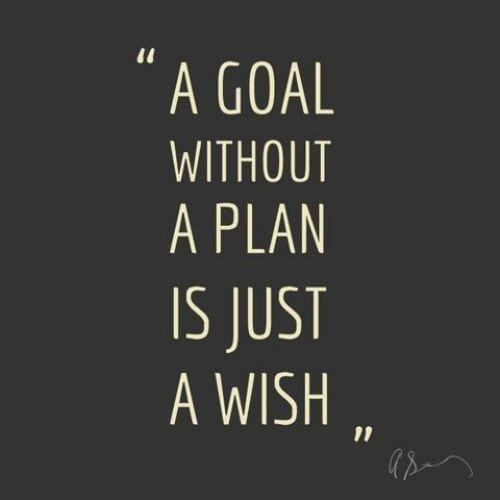 Goal with out a plan is a wish