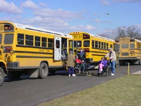 Students Loading onto Busses